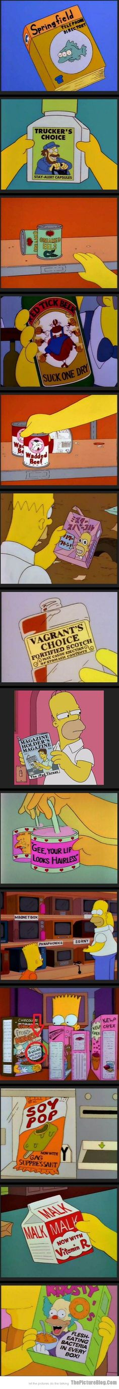 Funny Products found in The Simpsons Part 2