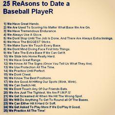 25 reasons to love a baseball player --- HAHA