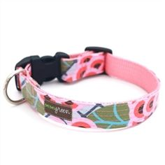 195b38a89 Mimi Green Zinnia Laminated Cotton Dog Collar!  dog  puppy  dogproducts   poshpuppyboutique