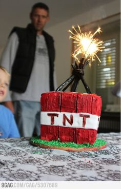 Minecraft TNT block cake