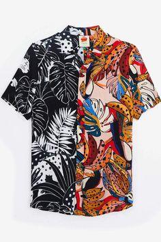 crazy fauna button down shirt - Men Button Down Shirts - Ideas of Men Button Down Shirts Casual Shirts, Casual Outfits, Fashion Outfits, Mens Fashion, Aesthetic Clothes, Printed Shirts, Button Up Shirts, Shirt Designs, Menswear