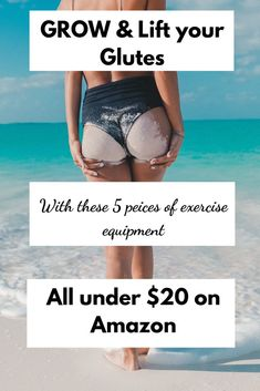 , Grow bigger booty muscles with these 5 pieces of exercise equipment so that you can workout your glutes anywhere and achieve that lifted round bubble . , How to Workout your Glutes with Affordable Exercise Equipment Hiit, Cardio, Glute Workouts, Easy Workouts, You Fitness, Fitness Tips, Muscles In Your Body, Weight Control