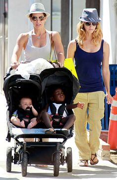 Heidi Rhoades & Jillian Michaels w/their kids Phoenix & Lukensia Michaels