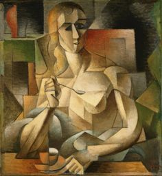 Jean Metzinger - Tea Time (Woman with a Teaspoon) 1911 Cubism, Puteaux Group, Neo-Impressionism, Fauvism, Divisionism