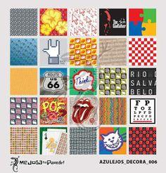 Azulejos Adesivos Decora nº 006 www.mejoganaparede.com.br