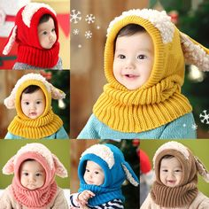 >> Click to Buy << Cute Winter Warm Baby Hat Beanie with Scarf Dog Style Crochet Knitted Caps for Infant Boys Girls Children Z46 #Affiliate
