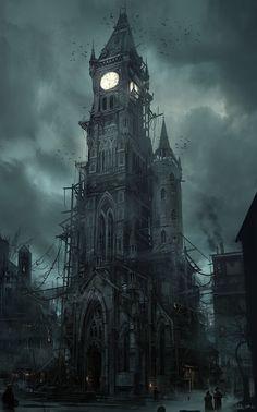 Thief - Clocktower front by MatLat - Mathieu Latour-Duhaime - CGHUB.    LARGE:  http://www.xboxlife.tw/forum/pics/shinji_fid7_201310111450250_original.jpg