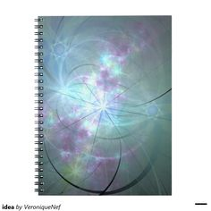 """""""Which came first, the mind or the idea of the mind? Have you never wondered? They arrived together. The mind is an idea.""""  #zazzle #mystore #fractal #blue #purple #idea #notebook #apophysis #color #colour #digitalart #digital #digitaldesign"""