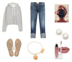 """""""Untitled #14"""" by kariannsweeney ❤ liked on Polyvore featuring Current/Elliott, Kate Spade, Alex and Ani and M&Co"""
