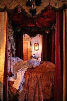 Gypsy Purple home. Dream Bedroom, Home Bedroom, Bedroom Decor, Gypsy Bedroom, Master Bedroom, Royal Bedroom, Bedroom Red, Bedroom Ideas, Gothic Bedroom