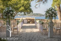 Wedding Ceremony in Corfu Island                        Event Design: Victoria Martini Events Floral Design : Rammos-Floral Structures www.rammosflowers.gr  Photography:Studio 74 Thanassis Rapsomanikis
