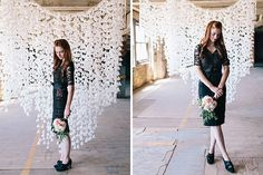 Guess what? You can use wax paper to make this gorgeous backdrop.