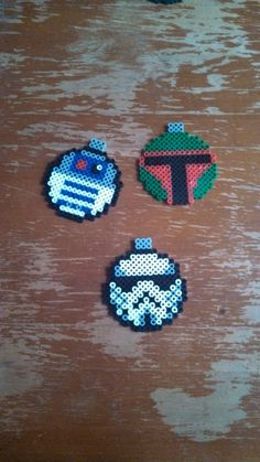 Star Wars Christmas Ornaments perler beads by AllMyGeekery