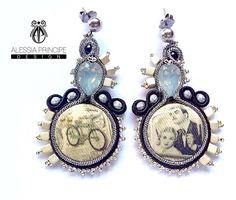 Alessia Principe Design Soutache vintage earrings