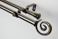 Modern Spiral Double Curtain Rod Size 66  120 W Finish Antique Brass *** You can find more details by visiting the image link. (This is an affiliate link and I receive a commission for the sales)