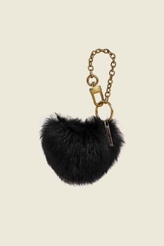 7f04a36177c0 Stella McCartney Faux Fur Dog Paw Bag Charm