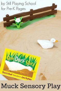 One Duck Stuck: FUN Muck Sensory Play activity for preschool!