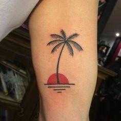 Follow and tag @inkedmagz to get featured @alex_edwards classy Palm tree #londontattoo #tattoostudio #traditionaltattoo #palmtreetattoo #boldwillhold #depford #kidsloveink by kidsloveink_london