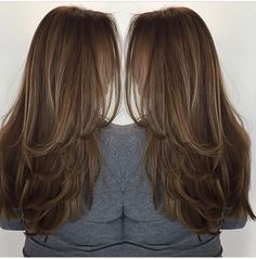 Haircuts For Long Hair With Layers, Haircuts Straight Hair, Long Layered Haircuts, Long Hair Cuts, Brown Hair Balayage, Hair Highlights, Medium Hair Styles, Long Hair Styles, Hair Upstyles