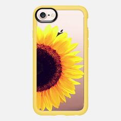 Bright Yellow Summer Sunflower Flowers on Transparent Background - Classic Grip Case