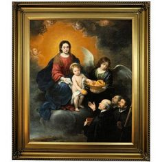 Historic Art Gallery 'The Infant Christ Distributing Bread to the Pilgrims 1678' by Bartolome Esteban Murillo Framed Print on Canvas Format: