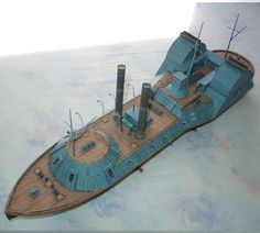 1/200 USS Choctaw Paper Model.  Heavily armed gunboat that served on the Mississippi River and its tributaries from April, 1863 until the end of the war.