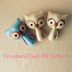 Woodland Owl PDF Pattern von Gingermelon auf Etsy