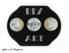 DIY moon phase art Moon Phases Art, Moon Art, Diy Art, Projects To Try, Mint, Glitter, Easy, Crafts, School