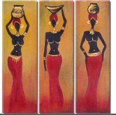 cuadros africanas African Beauty, African Women, African Fashion, Ankara Fashion, African Style, Black Women Art, Black Art, African Art Paintings, Easy Canvas Painting