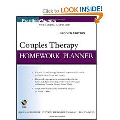 Couples Therapy Homework Planner (PracticePlanners)