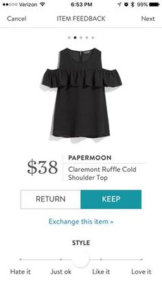 Papermoon Claremont Ruffle cold shoulder top by Stitch Fix. As your stylist for items like this to be delivered to your door in your next Fix. 2018 Spring & Summer fashion. #Stitchfix #influence #affiliate Wide strapped cold shoulder - You can actually wear a bra with this!