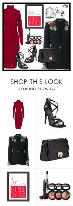 """""""6IX LABEL"""" by jelena-880 ❤ liked on Polyvore featuring Alexander McQueen, Jimmy Choo, Americanflat, Laura Geller and 6ixlabel"""