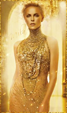 GIF in Gold, She is one the sexist actresses today.