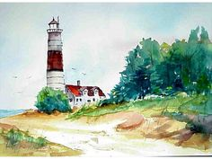 Tony+Couch+Watercolor+Gallery | Point Betsie Lighthouse, Michigan