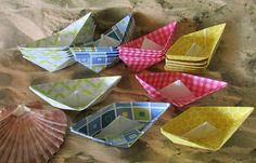 24 paper boat origami decoration photo prop art by shredlock
