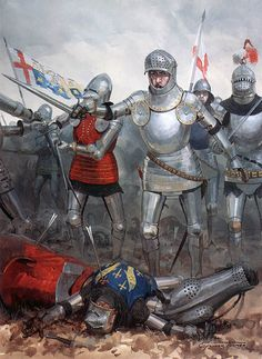 The battle of Agincourt, 25 October 1415