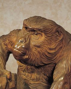 """Roen (""""Aged Monkey"""") sculpture.  1893, Japan, by artist  Takamura Koun .  """"Aged Monkey"""" was displayed at the 1893 Chicago World's Fair (a.k.a. World's Columbian Exposition) and is considered a masterpiece of Meiji wood sculpture of monumental significance. It is an important Cultural Property.  Tokyo National Museum, Japan"""