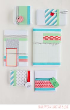 blue and mint with pops of coral  also- using graph paper as your base- genius
