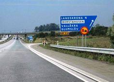 Motorway signs * Sweden Motorway Signs, Roads, Sweden, Blue, Design, Road Routes, Street