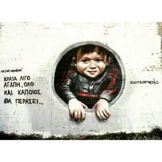 Hold some love for the passenger People Talk, Greek Quotes, Street Art Graffiti, Slogan, Kai, Greece, Life Quotes, Deviantart, Sayings
