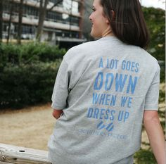 A Lot Goes Down Tee in Grey by Southern Proper