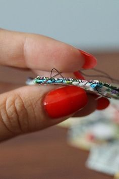 different method for stitching epp together.  not whipstitch, not ladder