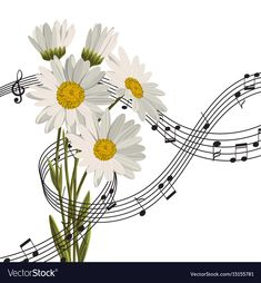 Daisies with music notes vector image on VectorStock Kate Winslet Images, Alcohol Ink Crafts, Daisy Flowers, Music Wallpaper, Diy Home Crafts, Flower Frame, Music Notes, Adobe Illustrator, Vector Free