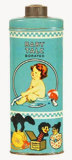 Vintage baby talc tin