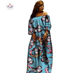 African Dashiki Casual Dress-0wame12