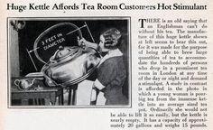 Huge Kettle Affords Tea Room Customers Hot Stimulant - Modern Mechanix (Sep, 1929)