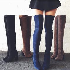 LF JEFFREY CAMPBELL PEROUZE THIGH HIGH BOOTS NWT. The grey/taupe color with black heel! the color in the first pic on very right and in the last pic) size 8 marked on tags but fits 7.5! (I'm a 6.5 and can fit pretty okay into these where I'm able to walk normally and comfortably in them) CAN DO $185 SHIPPED ON MERC/️️ and these retail for $245+tax right now!!! LF Shoes Over the Knee Boots