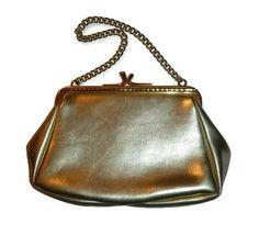 Vintage Gold Purse EATONS Evening Bag Made by PopcornVintageByTann