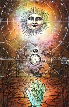 Hand sun clock #mystic