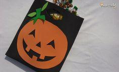Bolsa de goma eva para los dulces de Halloween